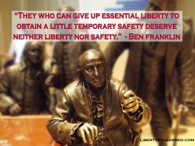 Those who would trade liberty for security should get neither