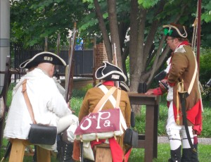 Revolutionary War Garbed Actors