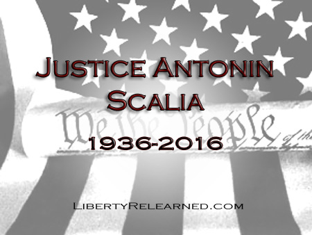 Farewell Antonio Scalia