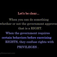 Rights vs. Privileges